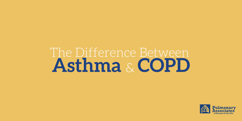 the difference between asthma and copd