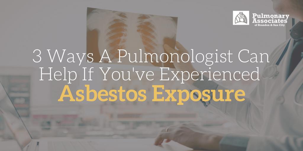 asbestos exposure, exposure to asbestos, oxygen therapy
