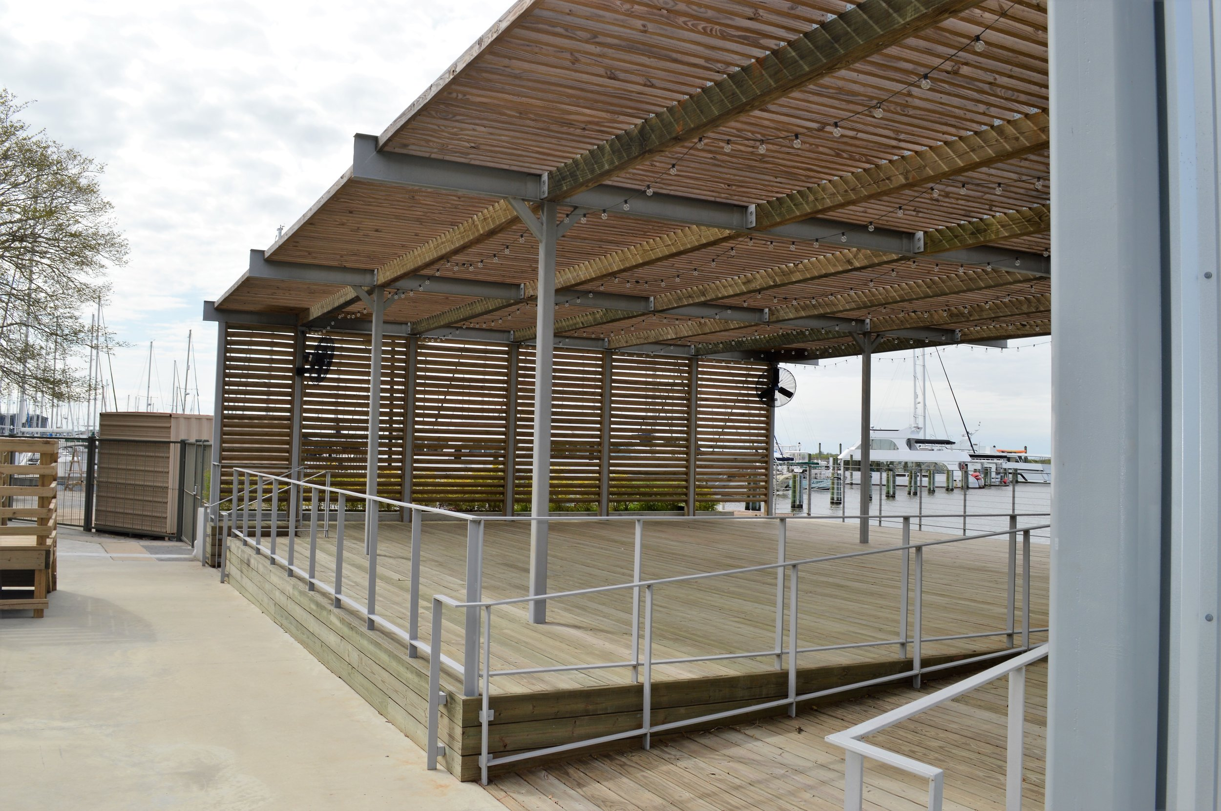 The Harbour Dock is available for rental. Cocktail parties, receptions, or a private parties. Wow your guests with the amazing view and set-up.