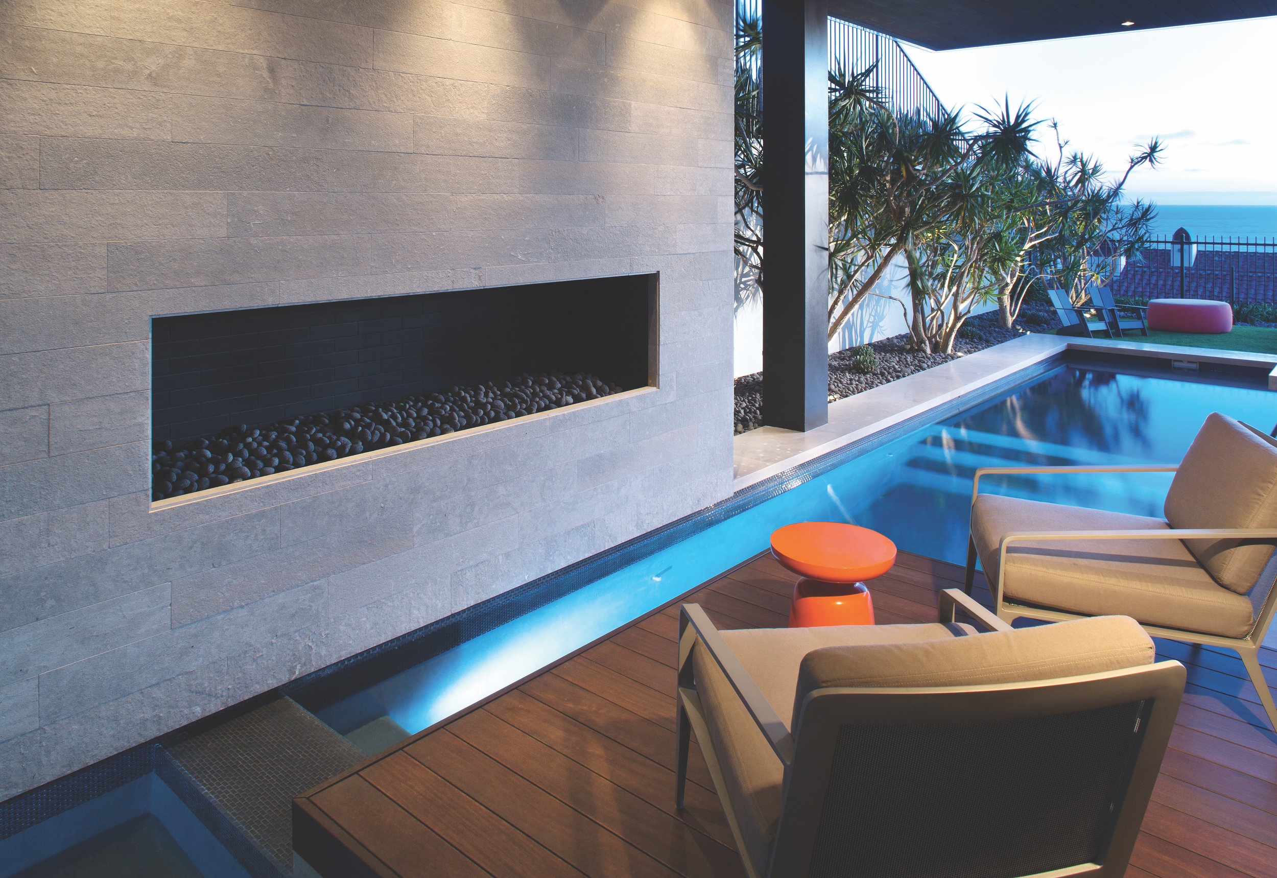 Private Residence – Lava Beach Pebbles