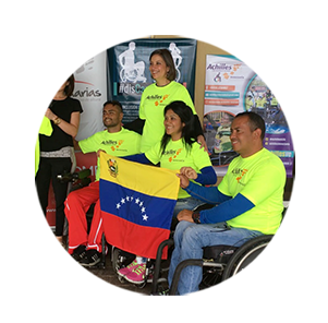 DISCAPACIDAD 0  We helped three disabled athletes to attend the Miami Marathon.