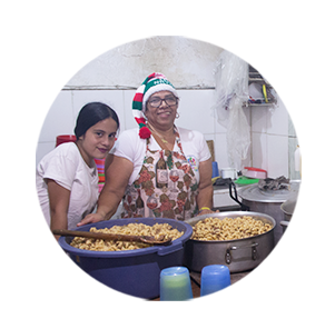 HAGAMOS EL BIEN  We helped to continue with their work of feeding the population with more needs of the Miranda State of Venezuela.