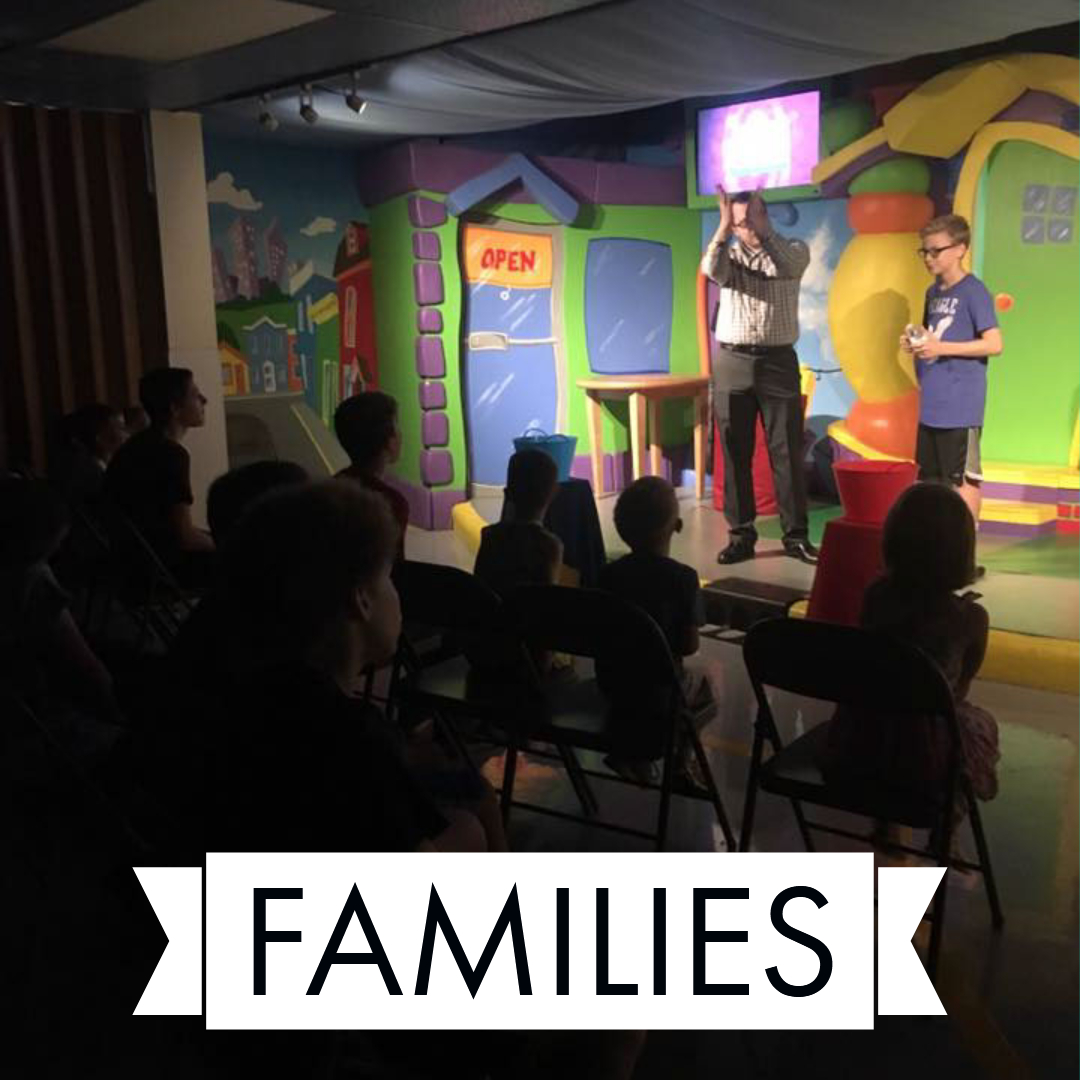 We have trained & qualified kids volunteers that care deeply about children and their faith journeys. We love families, so plan a visit and bring your entire crew.