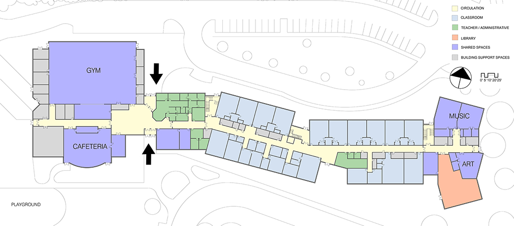 Each end of the school is open for community use after school hours by recreation and community services.