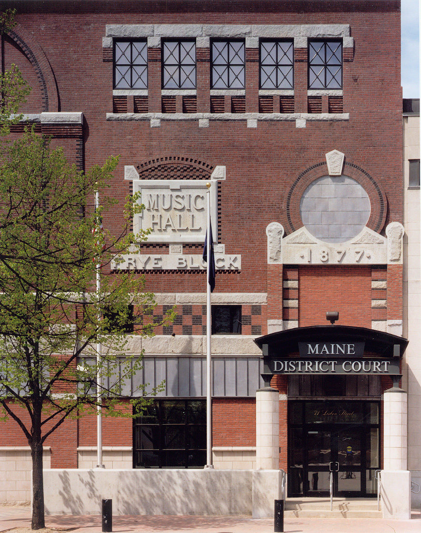 Conversion of the Frye Music Hall into Lewiston District Court enabled the city to revitalize a historic building and keep the court and its valuable daytime activity downtown.