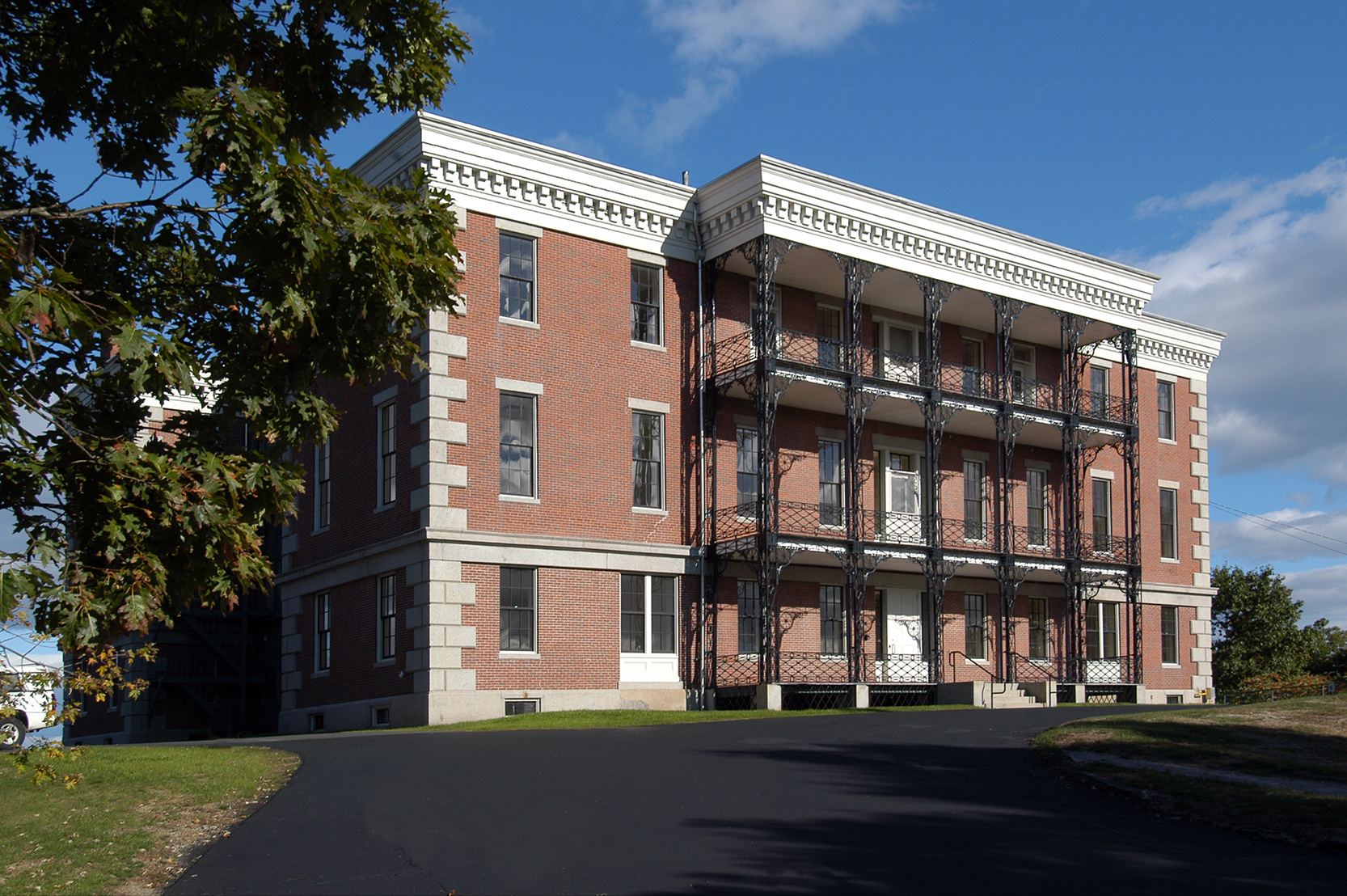 Portland's U.S. Marine Hospital is one of the few with intact iron porches.