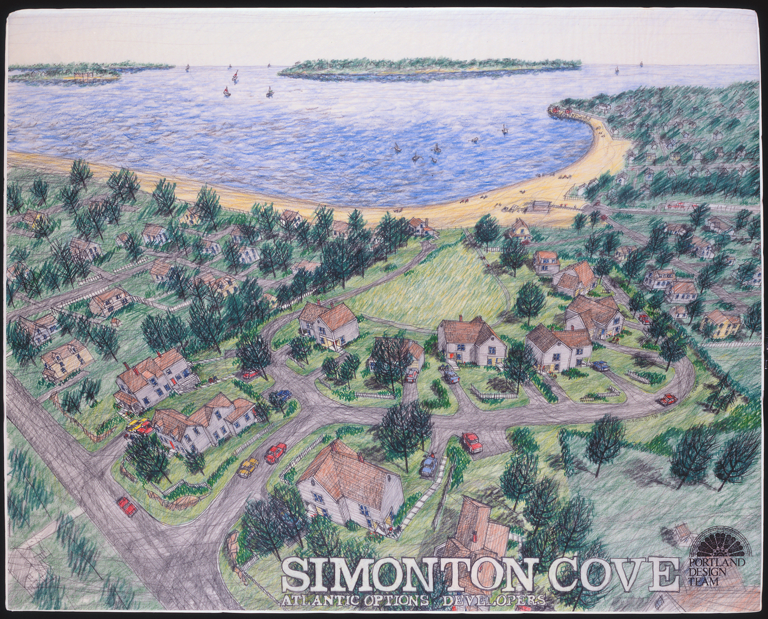 Birdseye view, Simonton Cove, South Portland, Maine