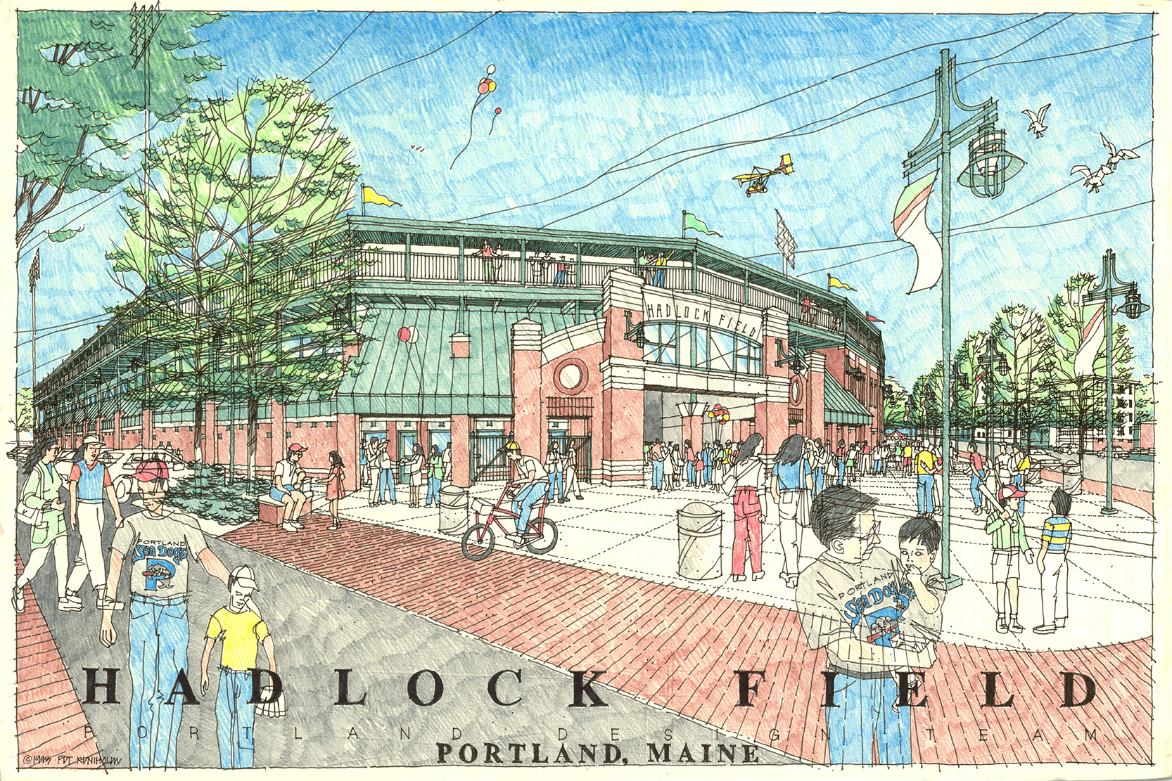 Original design, Hadlock Field, Portland, Maine