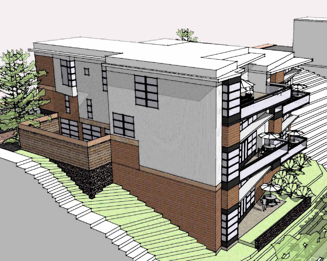 Renderings, proposed condo development, Washington Avenue, Portland