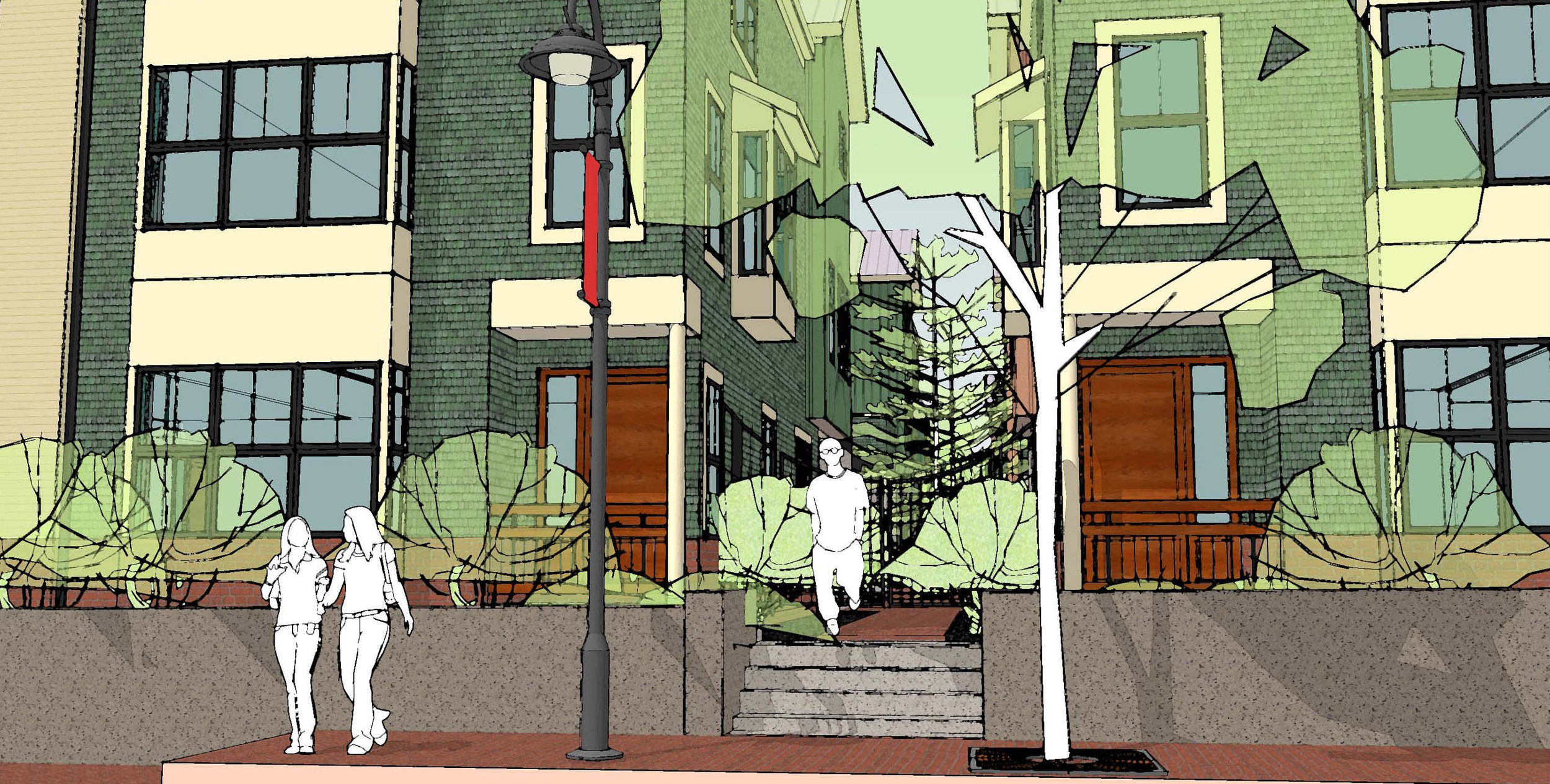 Entry rendering, Beckett Green, Portland, Maine
