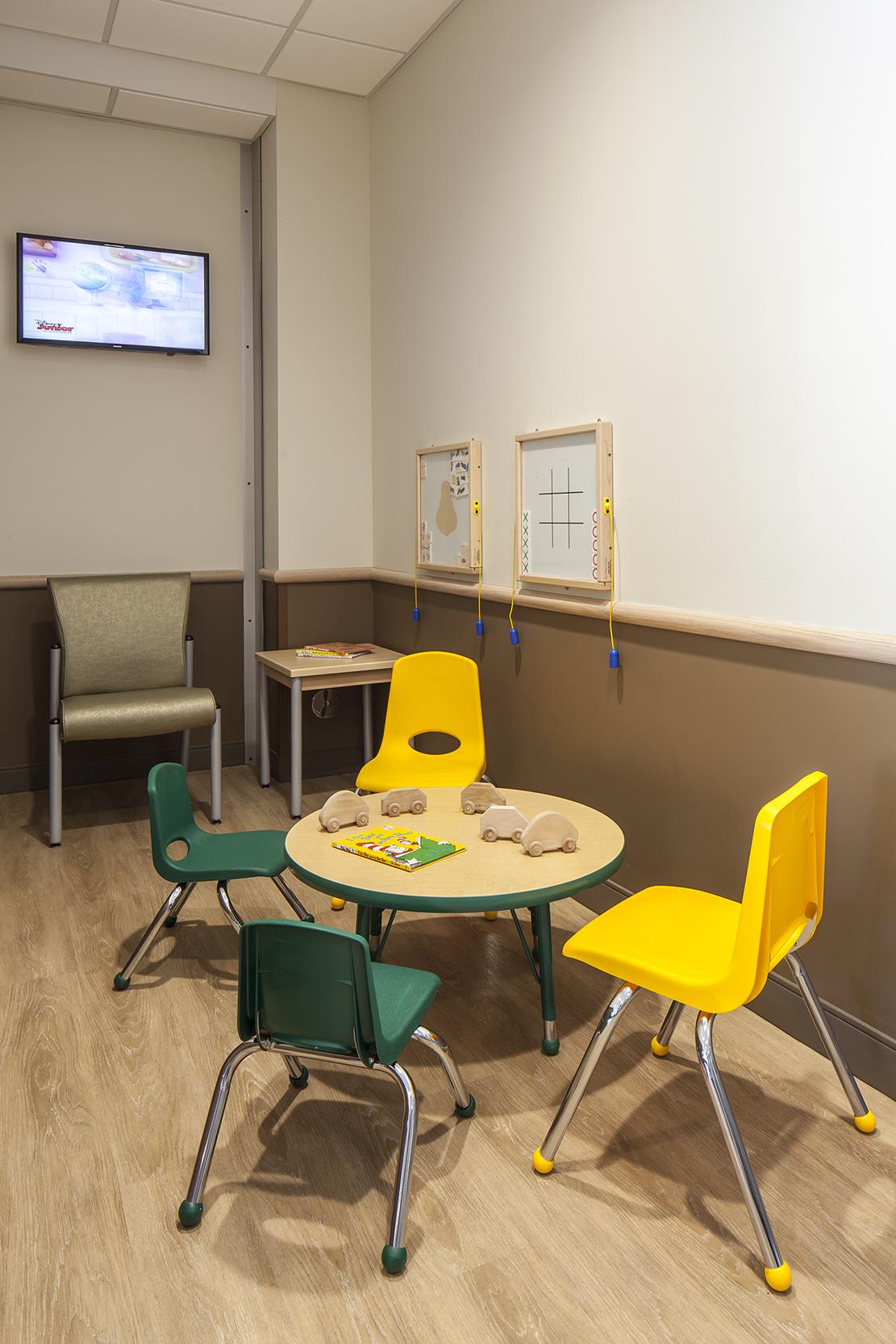 Children's corner in waiting room