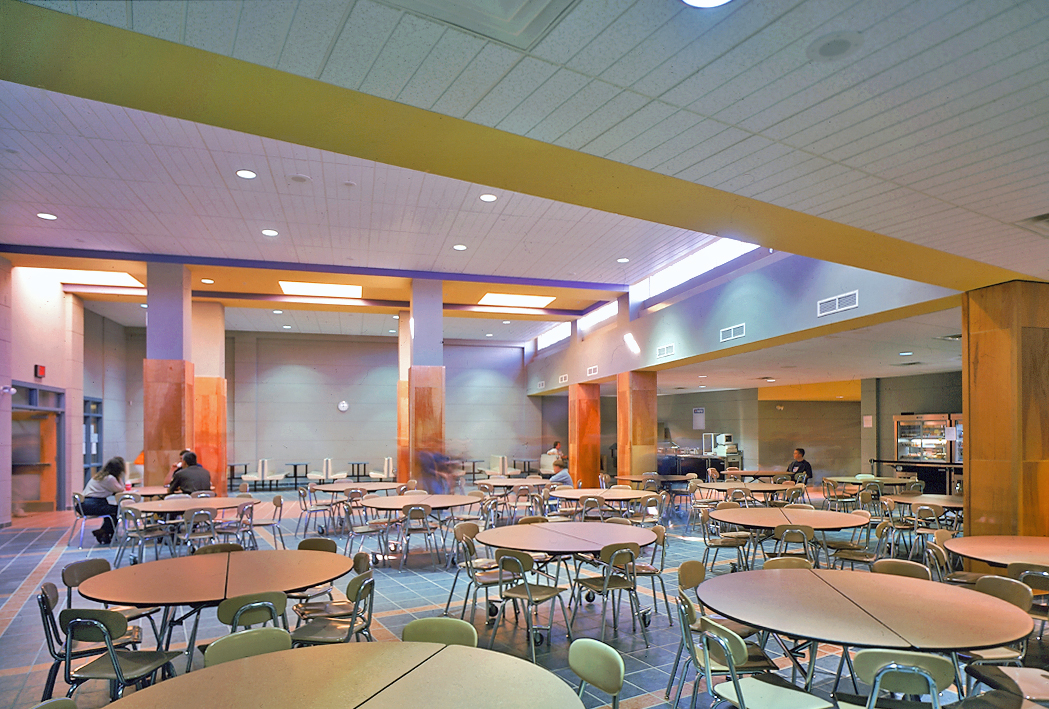 Students from the two schools share some core facilities, including the dining commons.