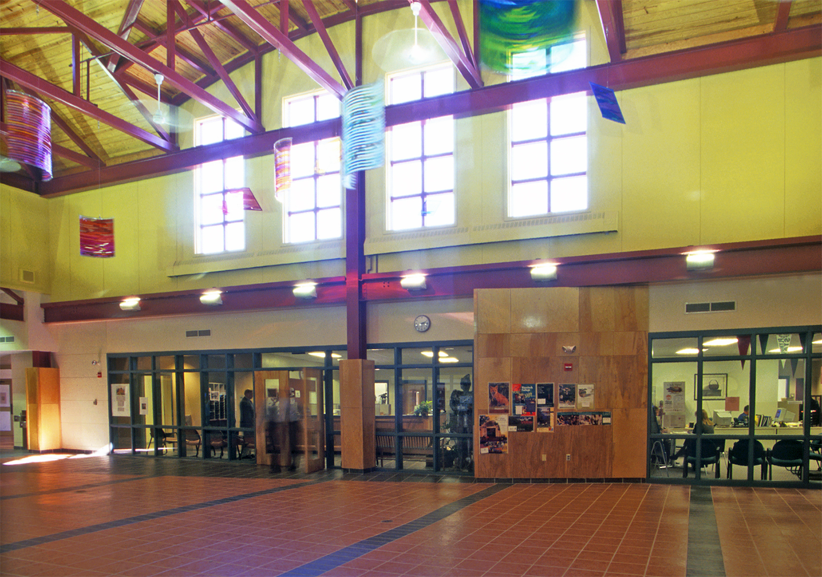 Right inside the front door, the administrative area combines all school administrative, health, and student services.