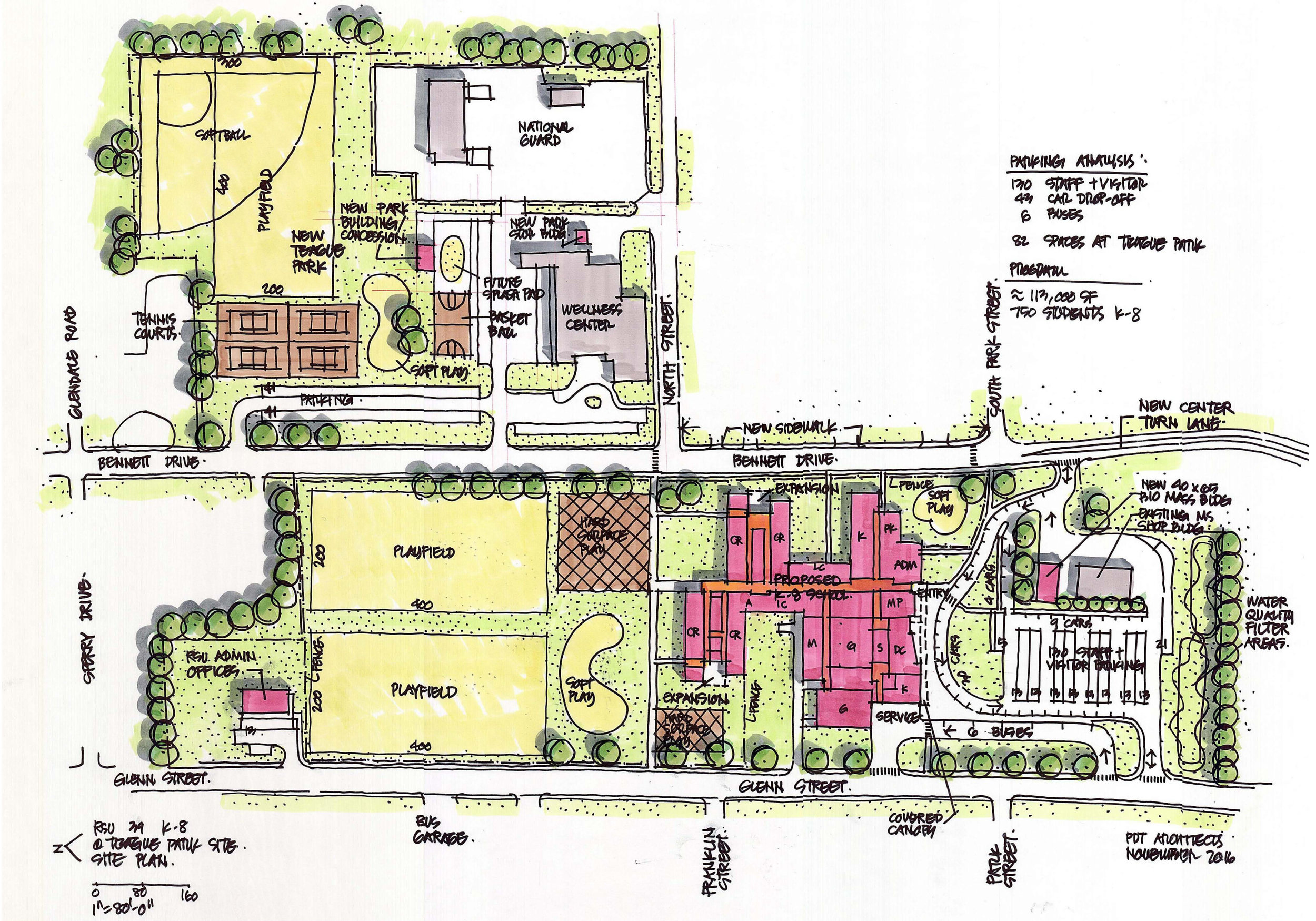 In progress —A multi-block, multi-phase master plan will consolidate 3 school facilities on a central site in Caribou.