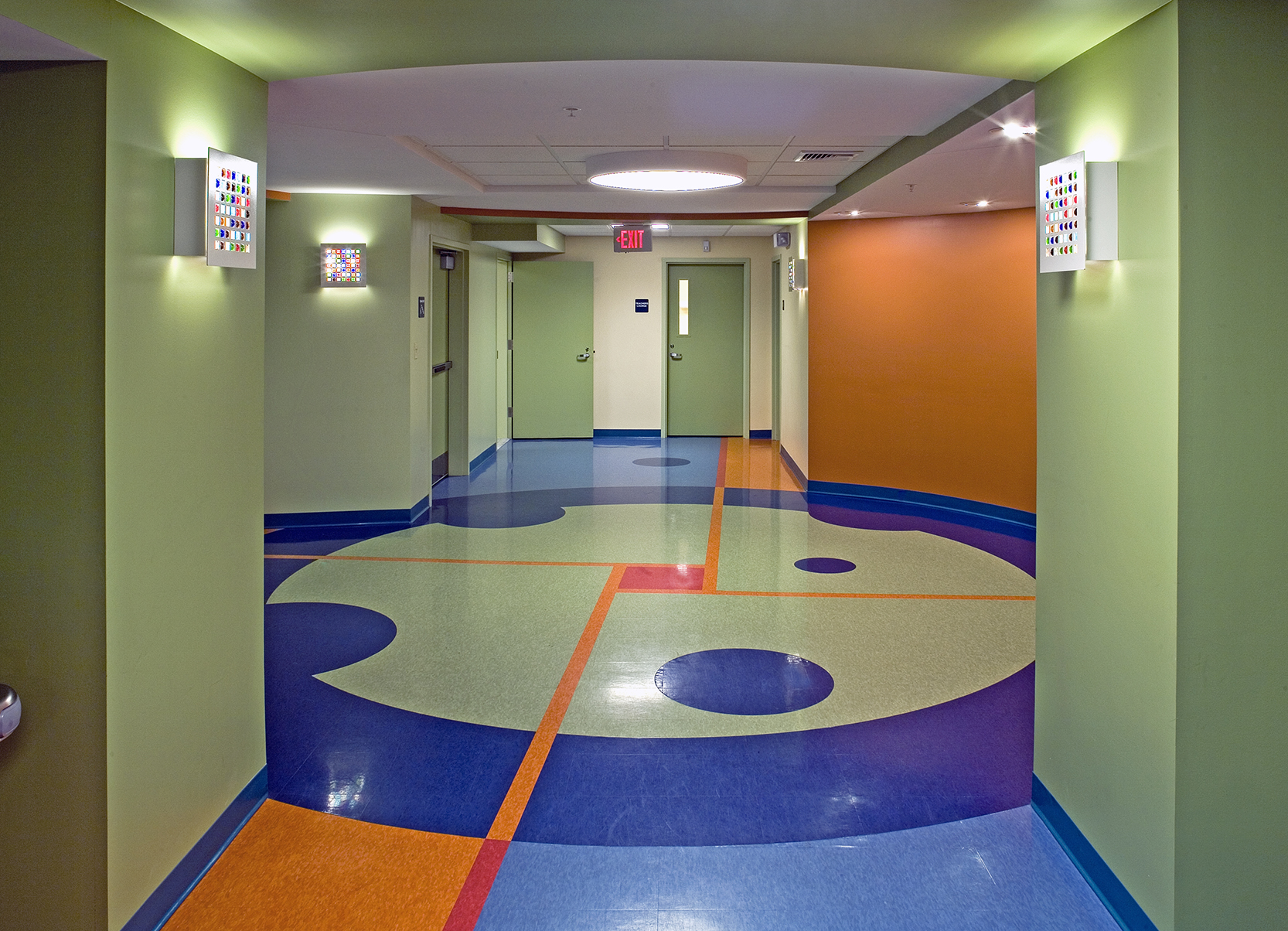 This rotunda is the crossroads of the 6th-grade floor.
