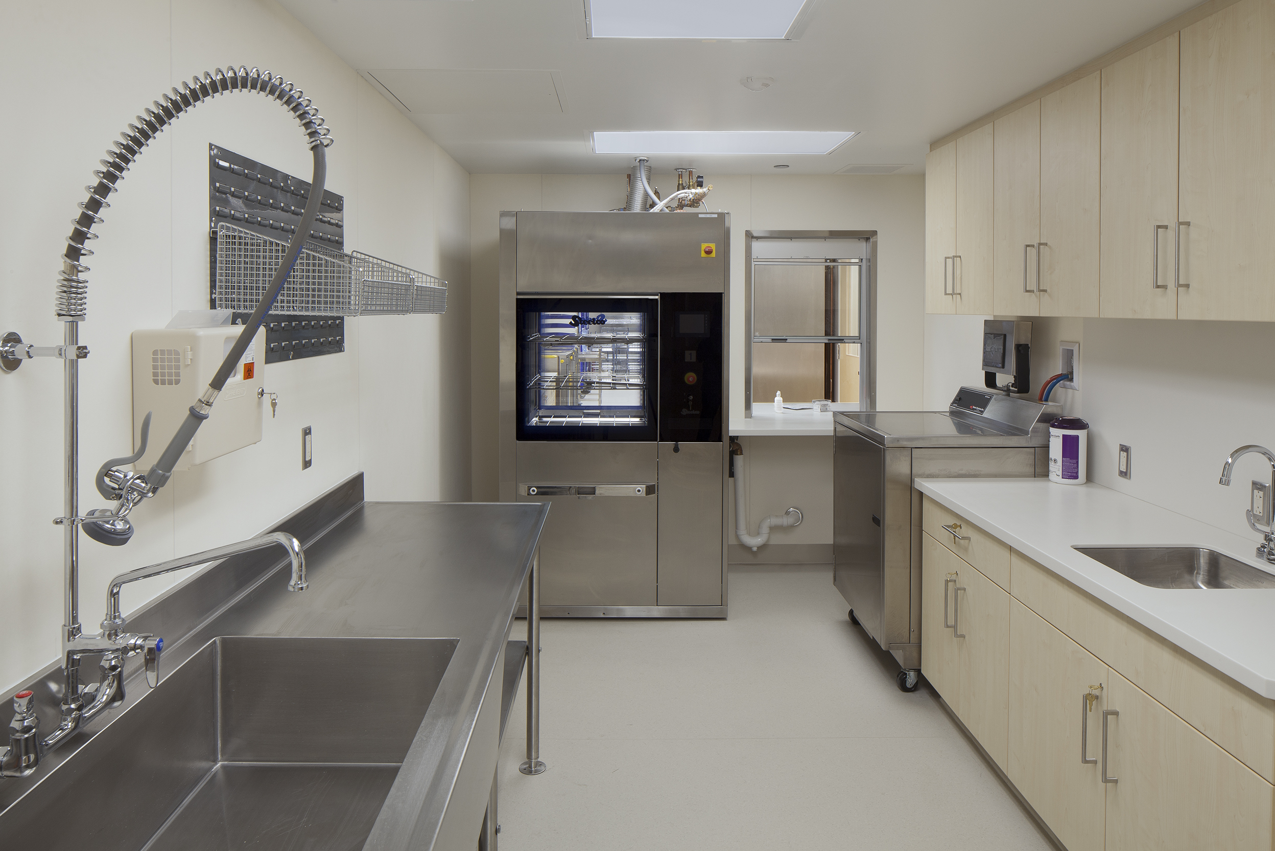 First floor sterilization room