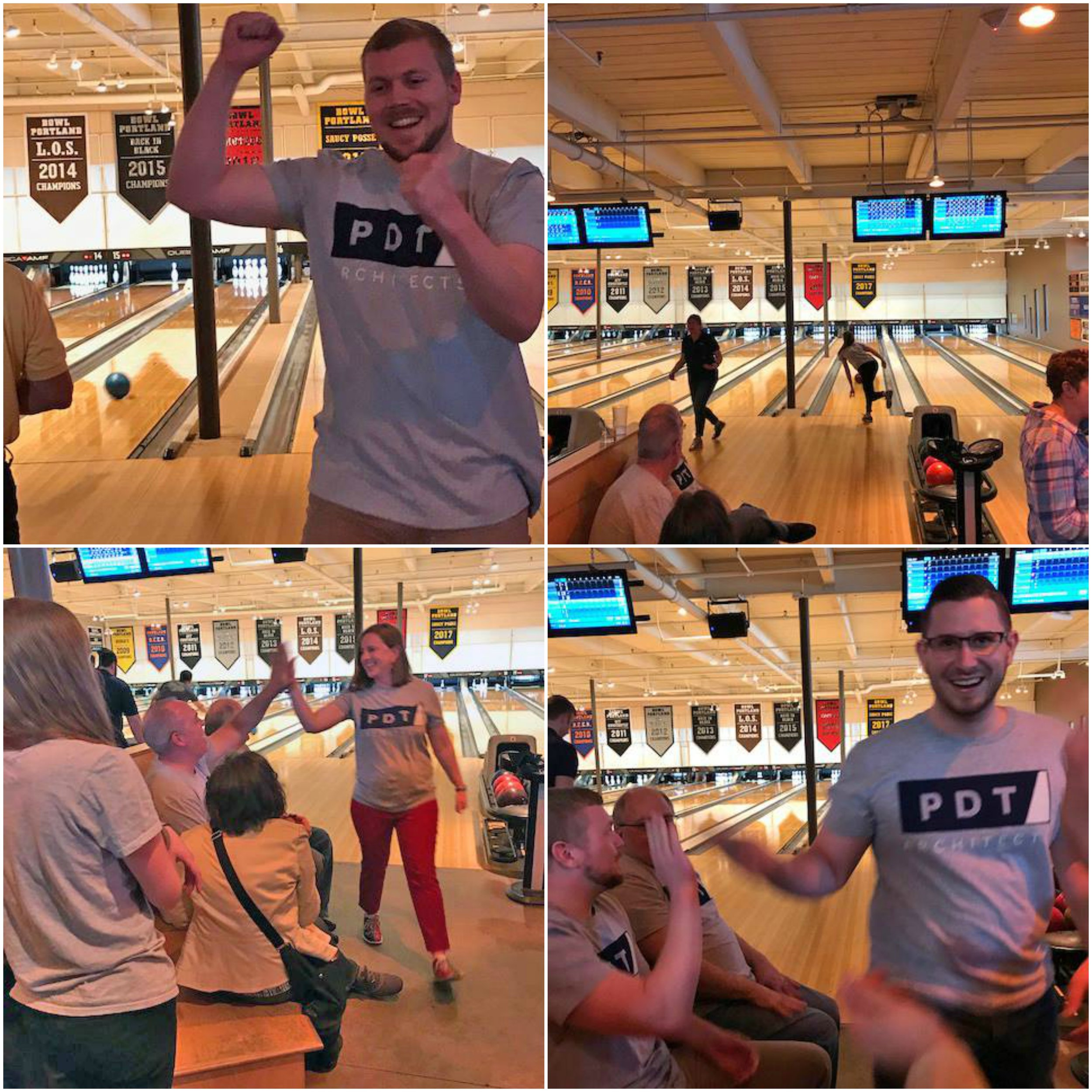 The PDT Pinheads play in the Annual Mereda Bowl-a-thon at Bayside Bowl.