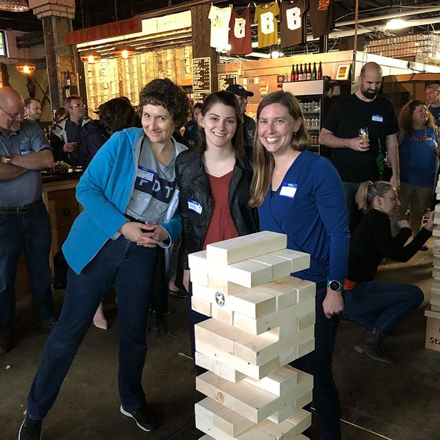 The PDTimbers! had a fantastic time last night at the #acemaine #jenga tournament! #pdtarchs_me