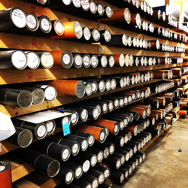 When your architecture firm has been around for more than four decades, you amass quite the archive. This is but a snippet of our deep storage. 😱  #archive #storage #drawings #blueprints #draftingtubes #theCHAway