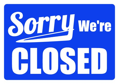 CLOSED WEDNESDAY FOR MAINTENANCE  WE WILL RE-OPEN THURSDAY 4/25/2019 AT 10AM