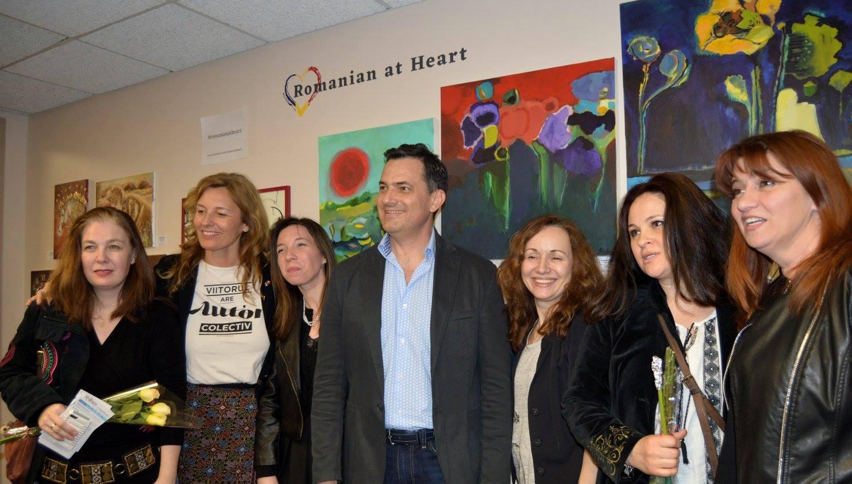 From left to right: Michelle Marin, Daniela Kammrath, Sonia Coman-Ernstoff, Cristian Ianculescu, Doina Dascalu, Andreia Gliga, Pandi Dacu. Photo: Camelia Peck