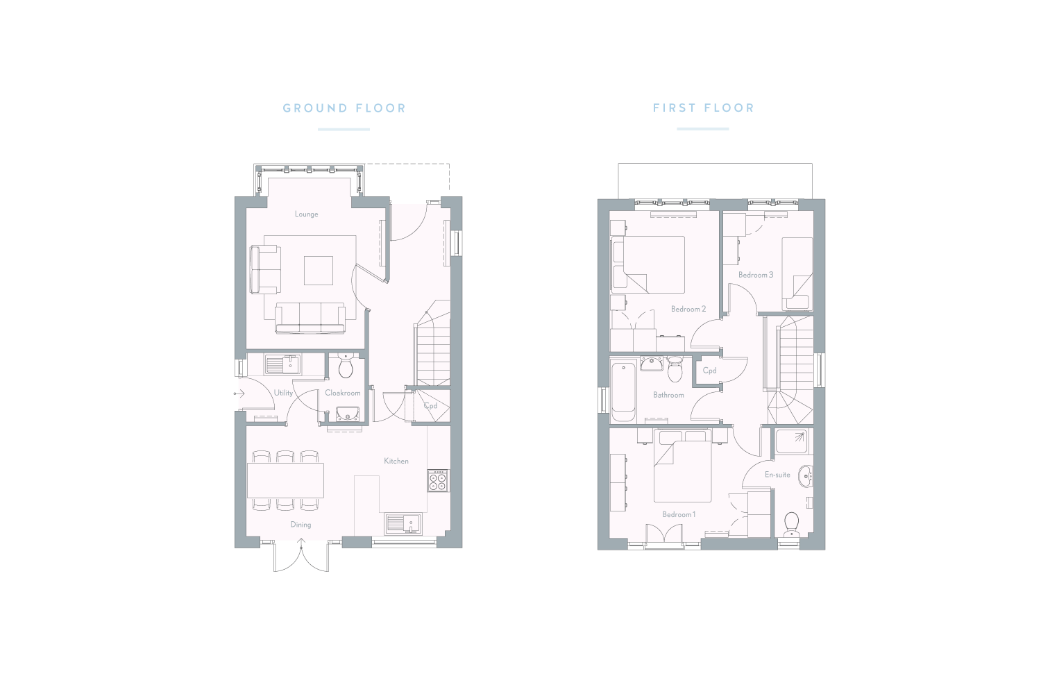 The Heights - The Gingham - Floor plans