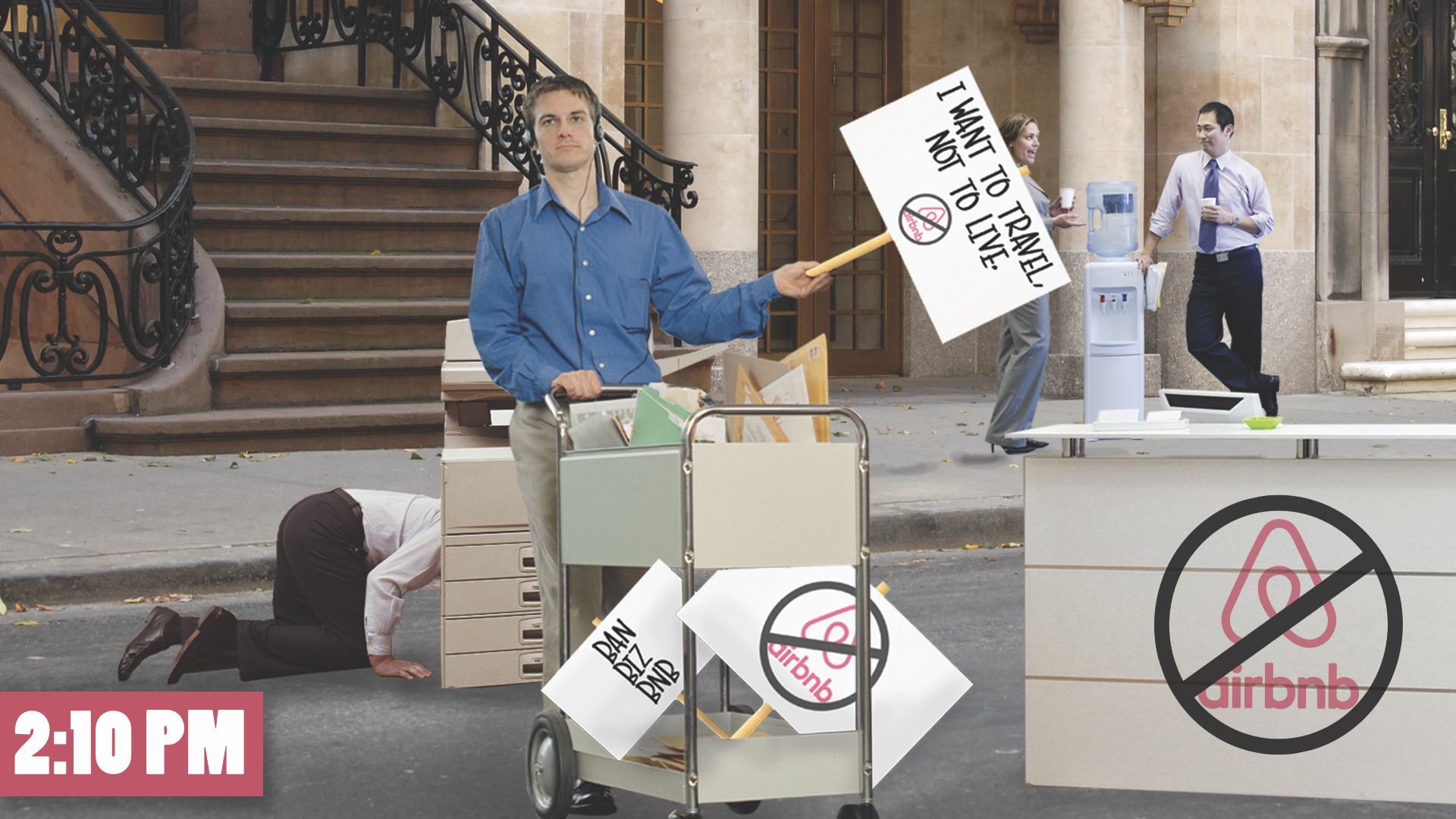 Distribute Protest Materials