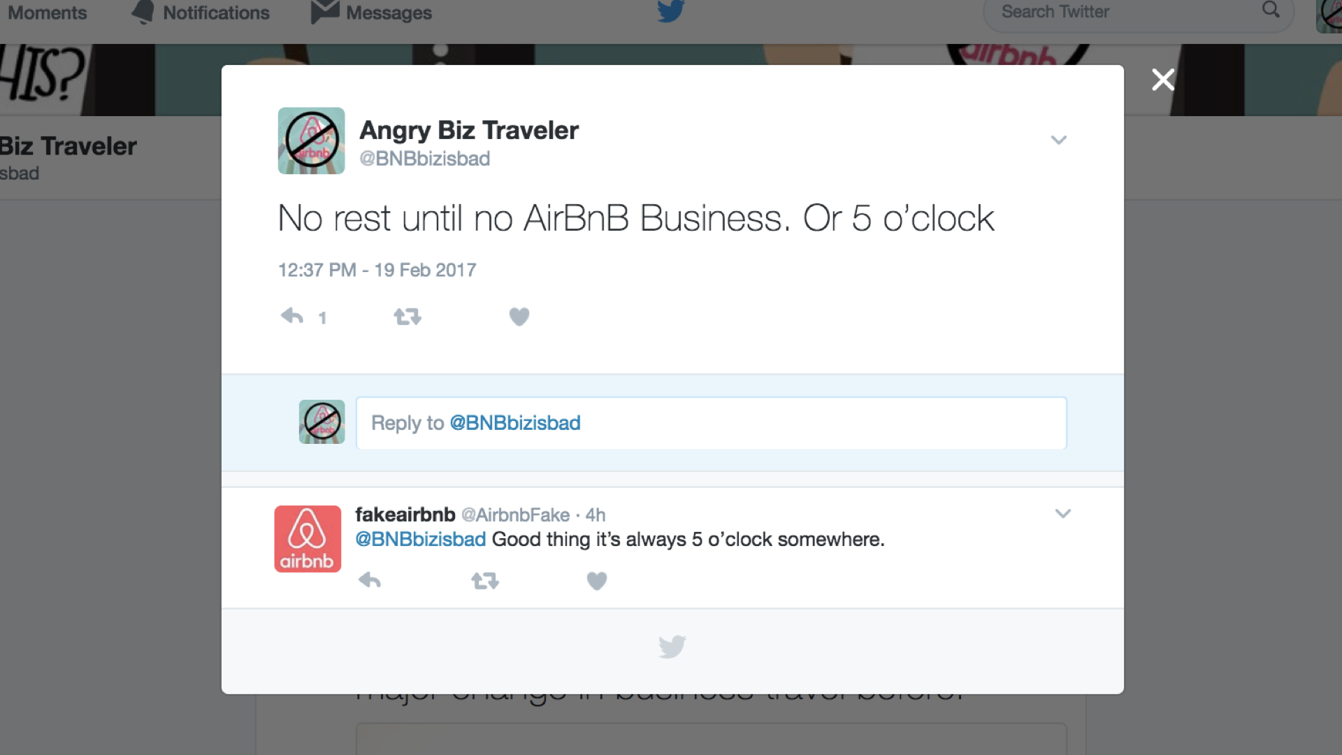 - AirBnB will respond to the movement on social media, and we'll create a back and forth conversation we can control.
