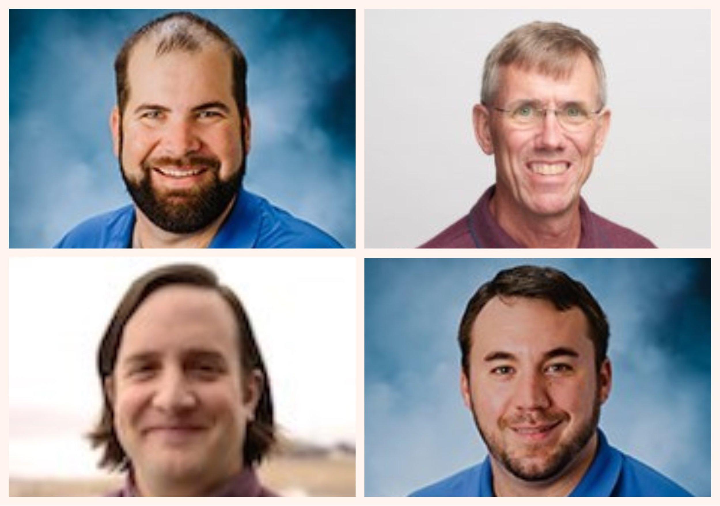 Clockwise from Top Left: Kevin Cattani, Jim Ott, Joe Sabin, Steve Tartaglione