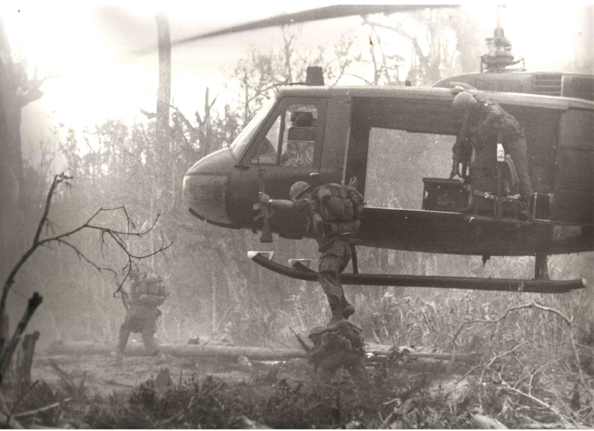With troops of the 101st Airborne Division in I Corps, Vietnam, 1970.
