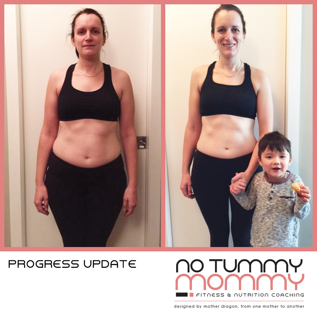 Pictured here is the 4-week progress update of one of my first NTM clients.