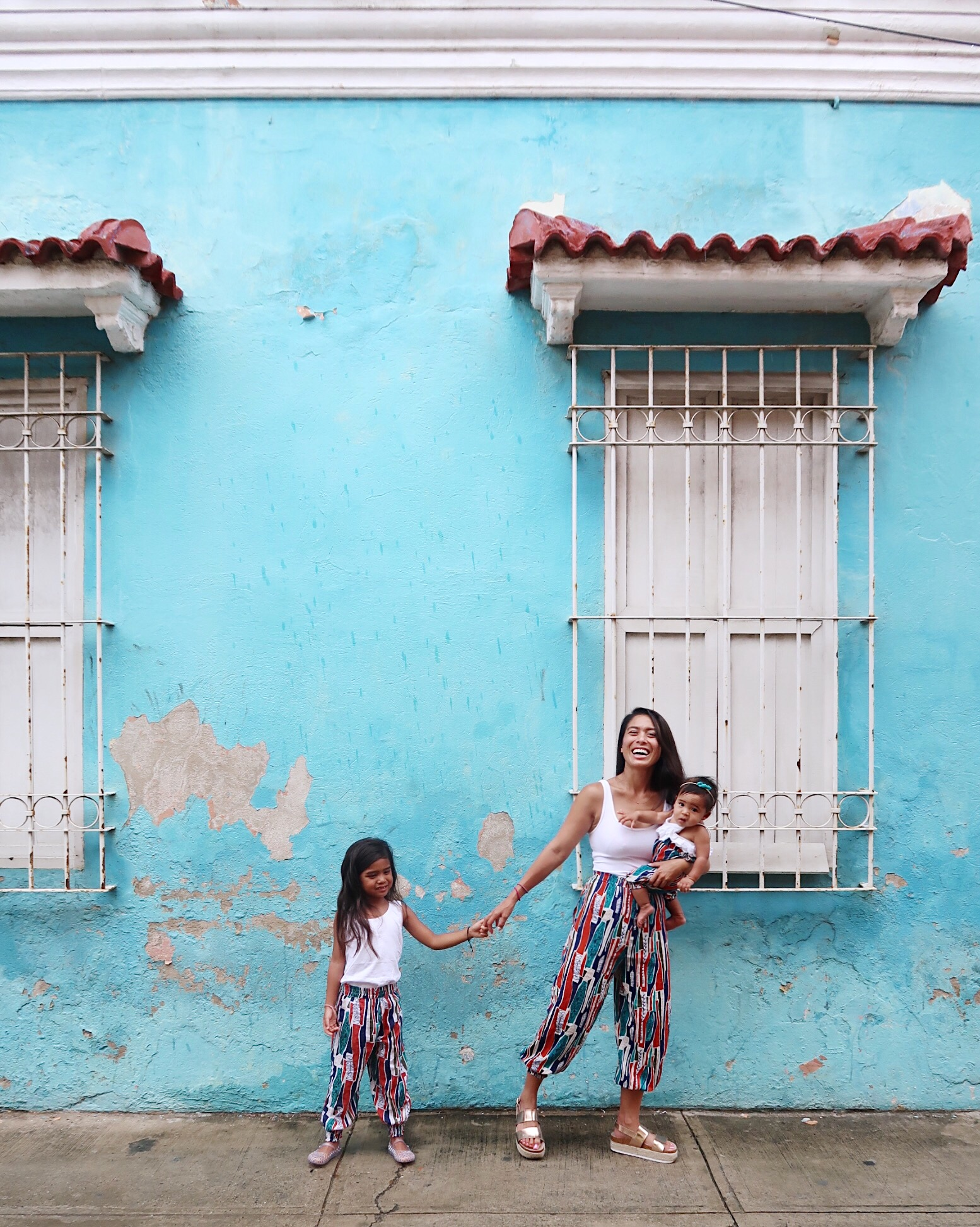 Twinning in the streets of Cartagena, Colombia.