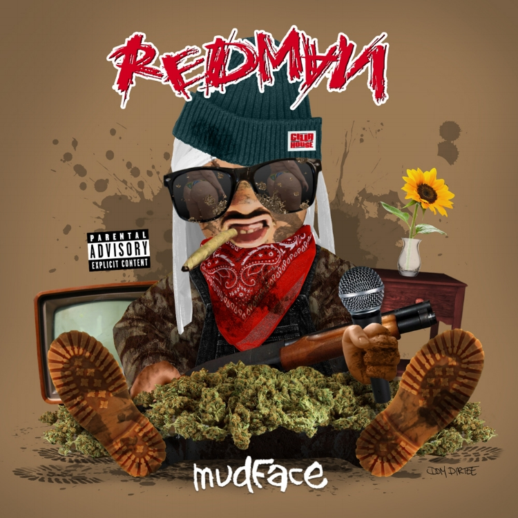"REDMAN ""MUDFACE"" ALBUM ARTWORK BY DOM DIRTEE"