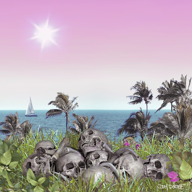 SKULL BEACH BY DOM DIRTEE