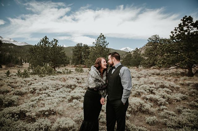 All the heart eyes! These two are so in love 💕 #elopement #elopementphotographer #estespark #brideandgroom #brideandgroomphotos