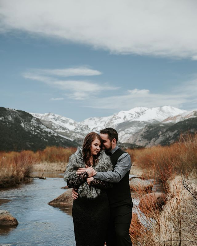 Congratulations to Lydia & Nick! Such a unique experience in the beautiful Rocky Mountain National Park. #estesparkwedding #elopementphotographer #eloped #mountains #colorado_creative