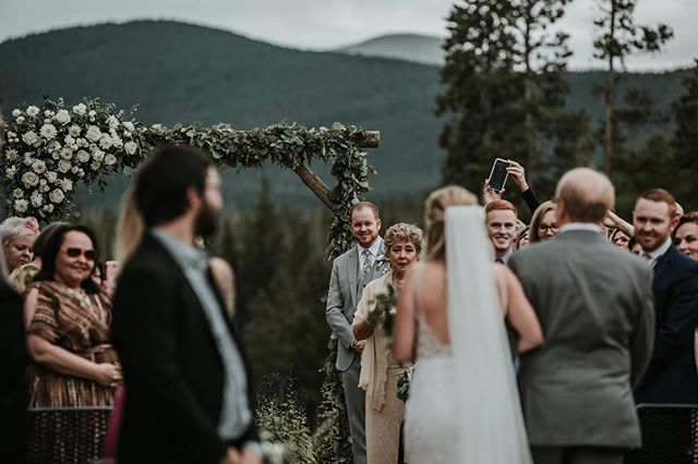 Rain or shine the wedding must go on. Such a beautiful ceremony, beautiful families joining together, and a beautiful bride. We couldn't be happier to be a part of it all.  #bridesofinstagram #groomsreaction #motherofthegroom #breckenridge #breckenridgeweddings #colorado #colorado_creative #coloradophotography