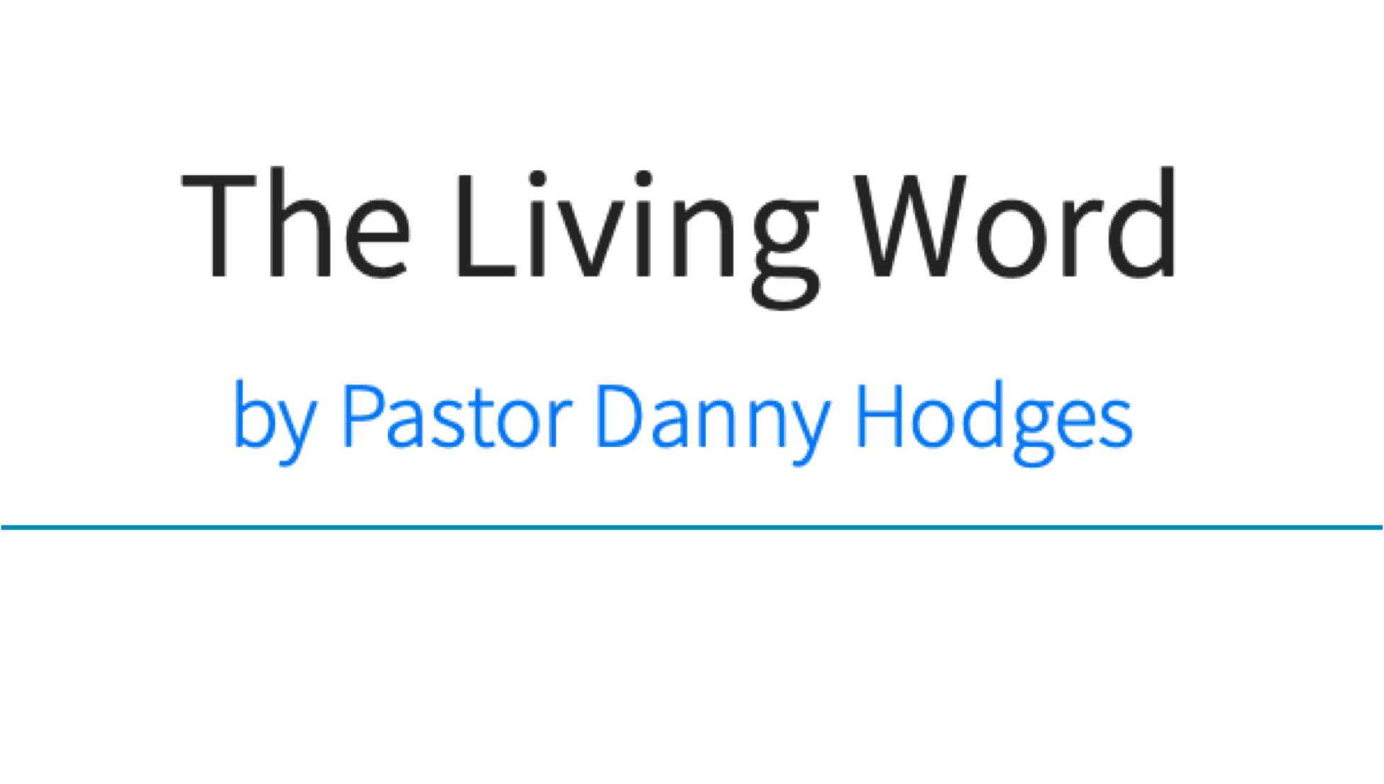 The Living Word   Weekdays at Noon