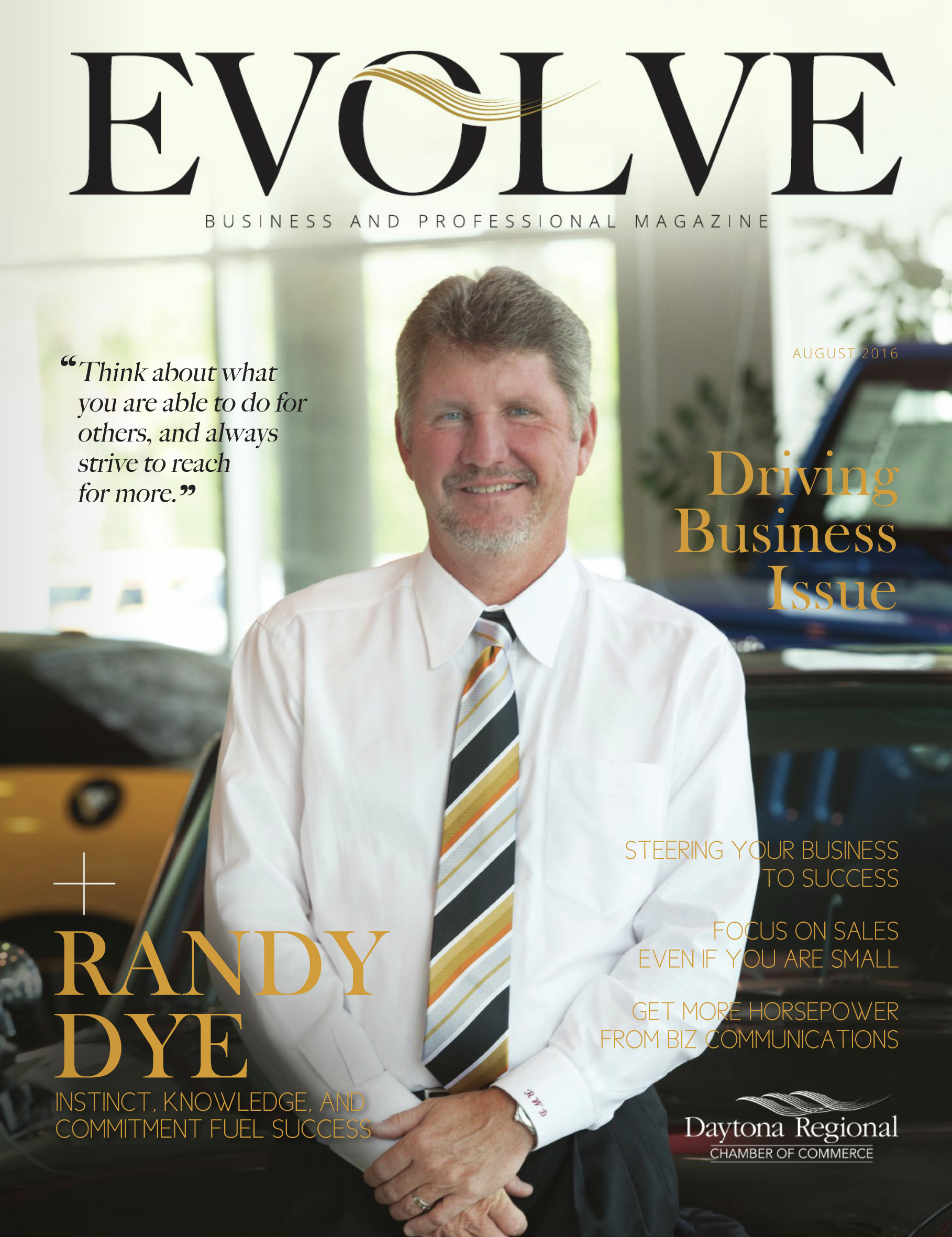 Evolve Magazine for Ormond Beach Chamber  Creative Director: Greg Hunter  Photography: Greg Hunter