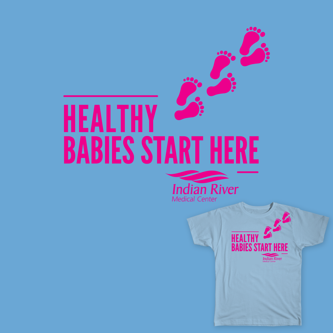 Inidan River Medical Center - March of Dimes Tee Design