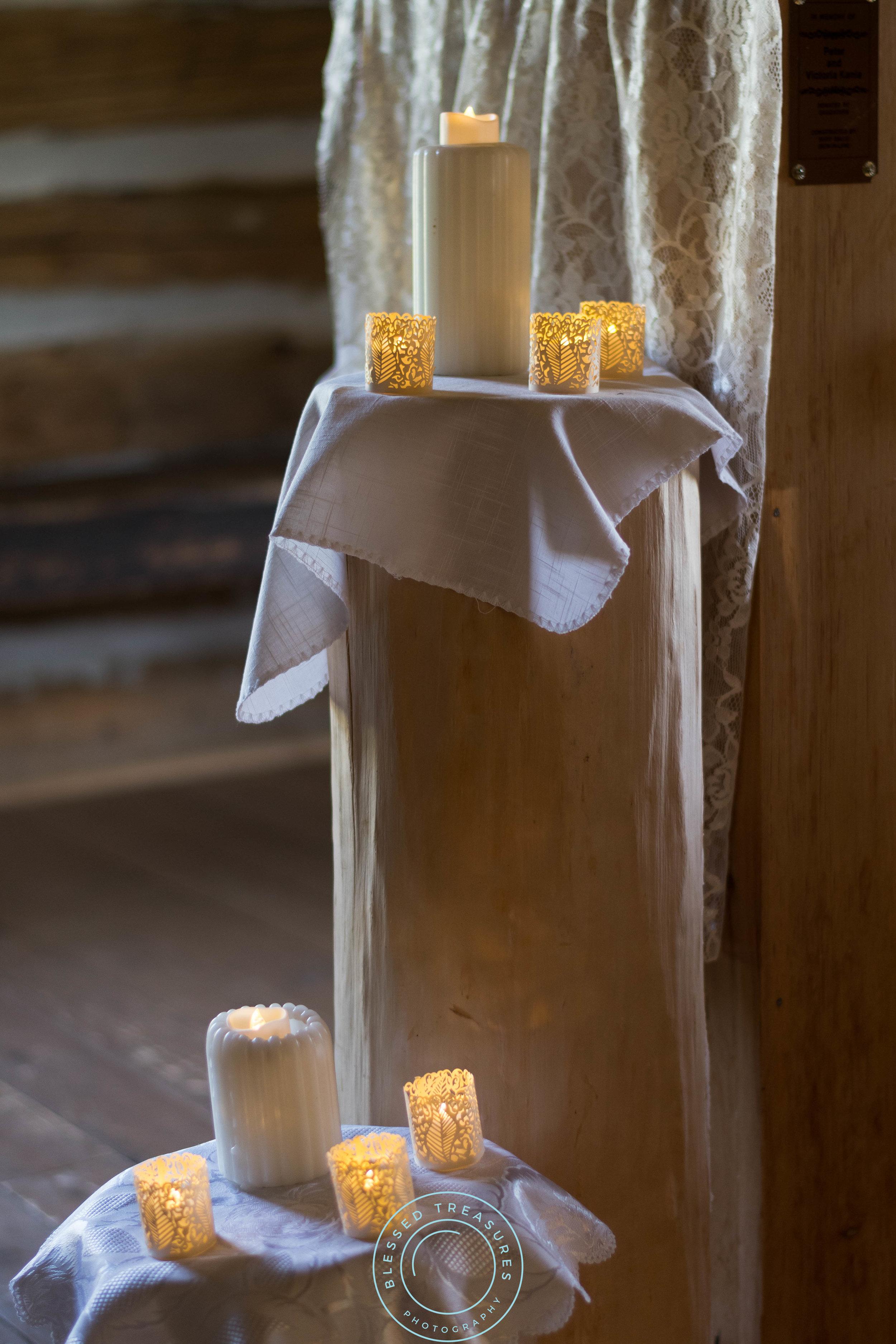 Mansfield township pioneer church crystal falls michigan candle rustic wedding decorations