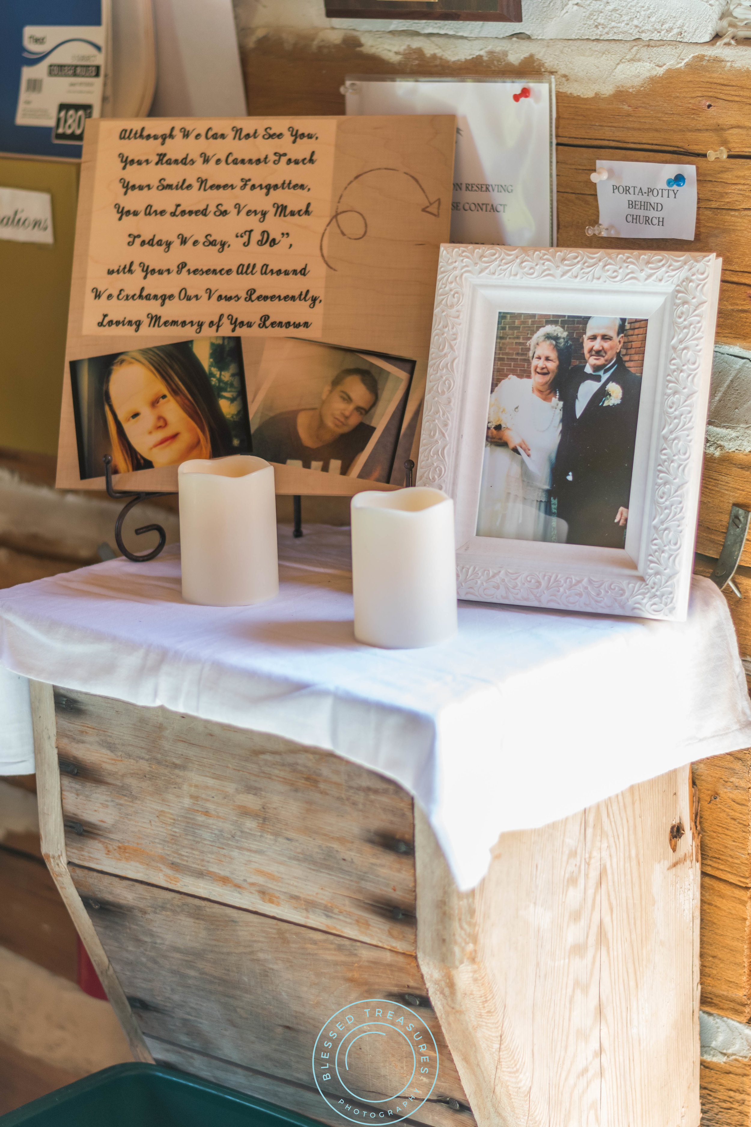 Mansfield township pioneer church crystal falls michigan memorial poem pictures candles rustic wedding decorations