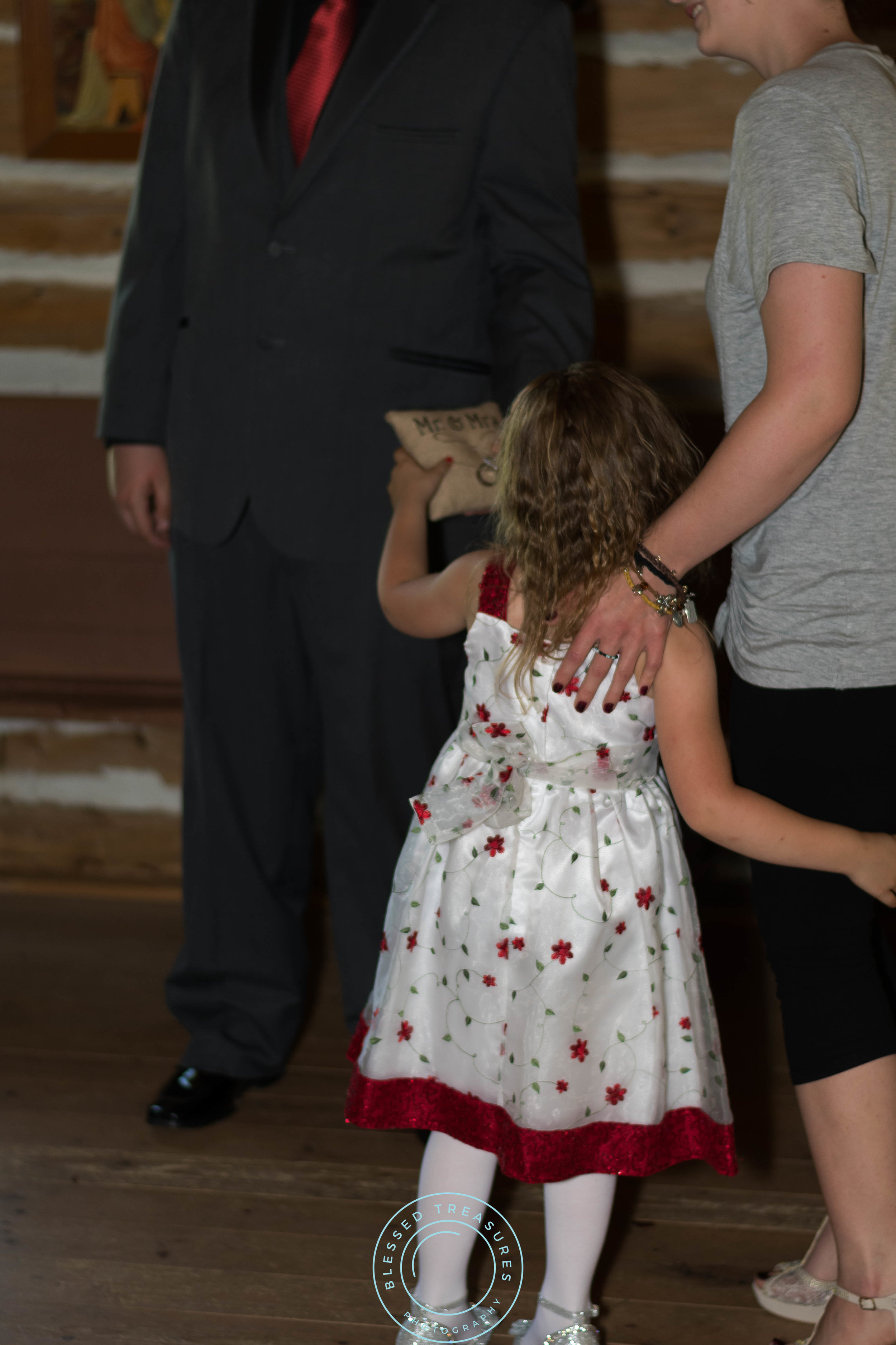 Mansfield township pioneer church crystal falls michigan flower girl ring bearer white red dress
