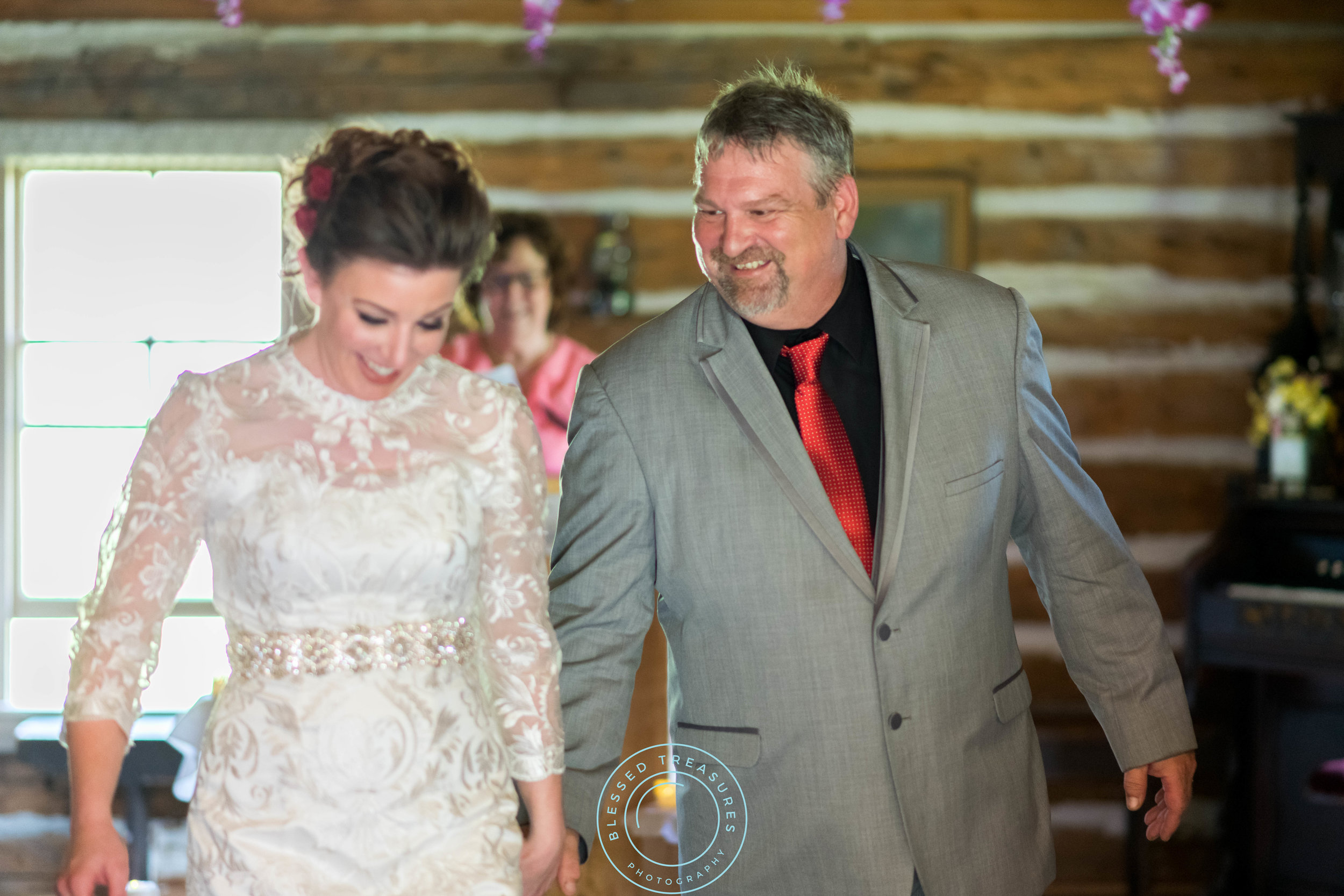 Mansfield township pioneer church crystal falls michigan bride and groom wedding ceremony couple's exit