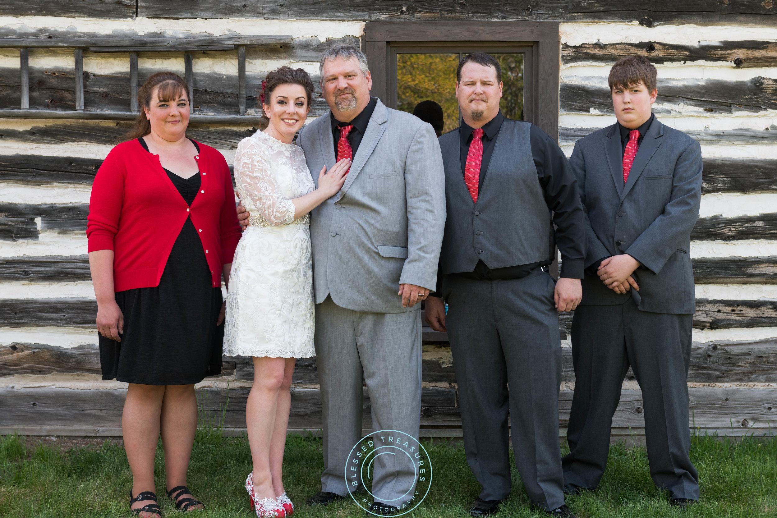Mansfield township pioneer church crystal falls michigan wedding bridal party