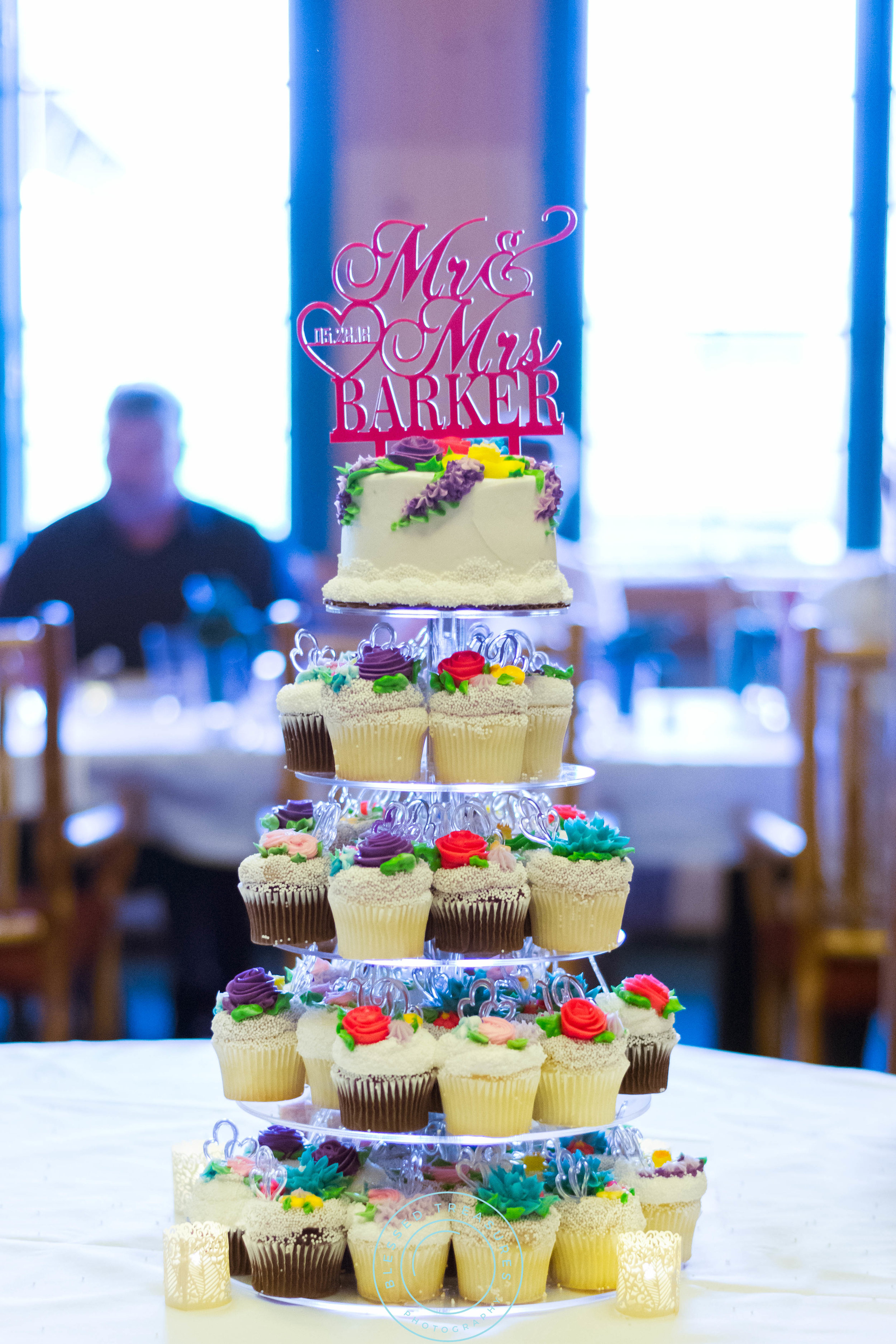 George Young complex banquet hall golf course iron river michigan cupcake tower flowers cake topper