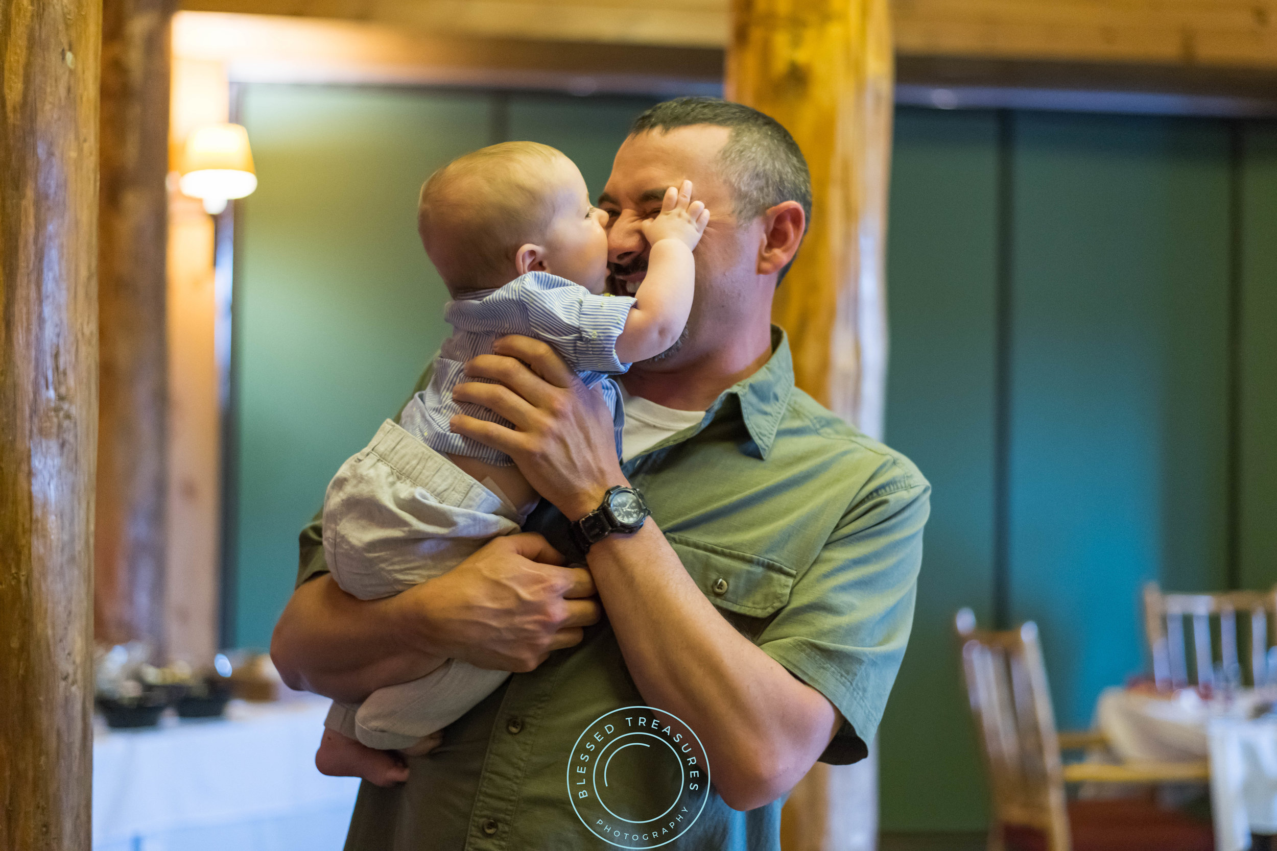 George Young complex banquet hall golf course iron river michigan wedding reception cute candid baby