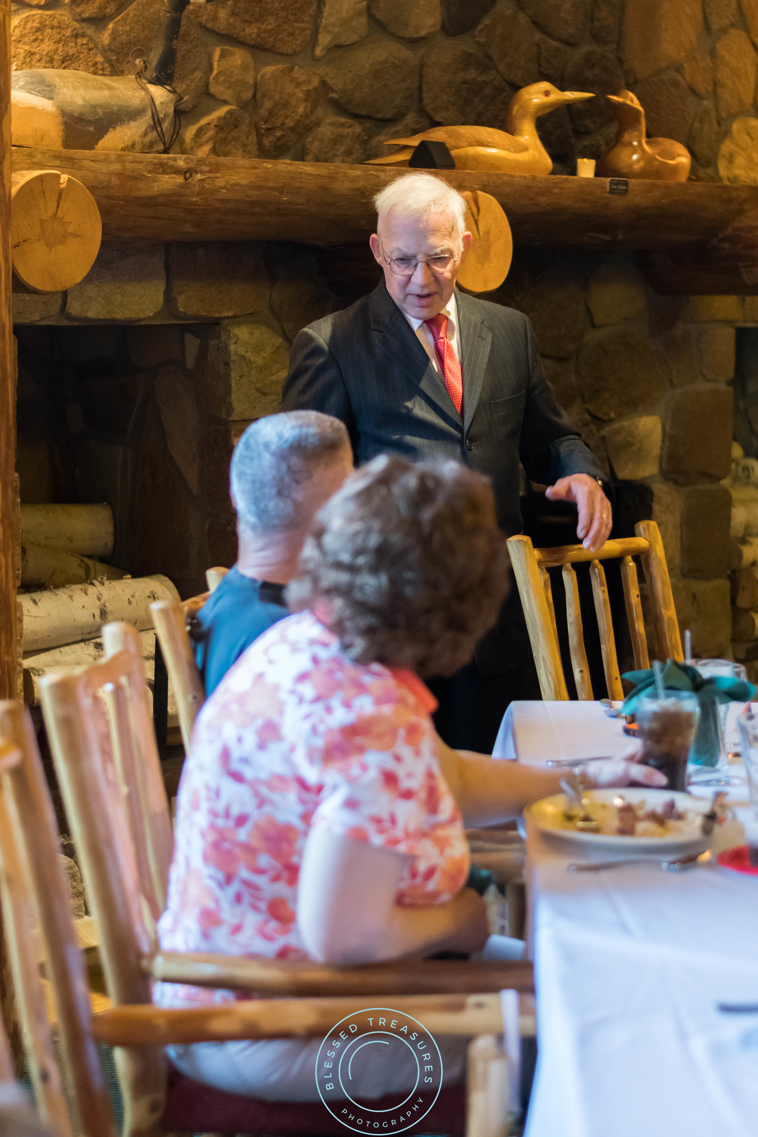 George Young complex banquet hall golf course iron river michigan wedding reception candid