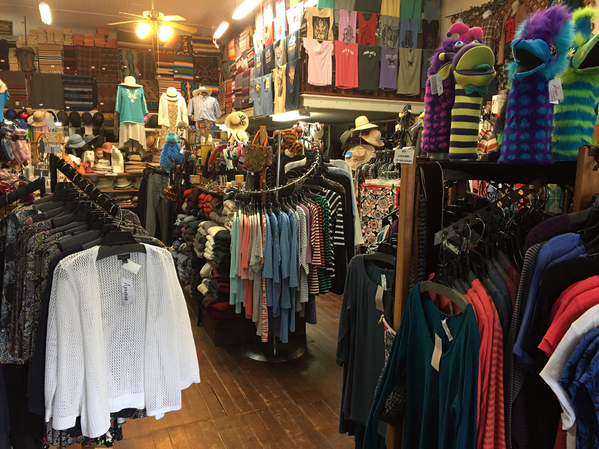 Cabaline Country Emporium Clothing Section