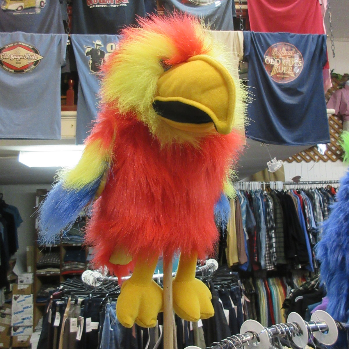 Scarlet Baby Macaw Bird Puppet from The Puppet Company